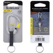 Brelok do kluczy z blokadą Nite Ize Slidelock Key Ring Srebrny