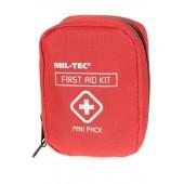 Apteczka Mil-Tec mini czerwona z wyposażeniem