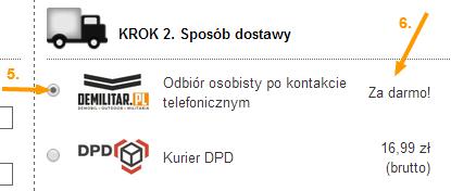 Sposób dostawy DEMILITAR.PL