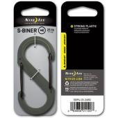 Nite Ize S-Biner 4 Plastic Black Gate FGreen karabinek