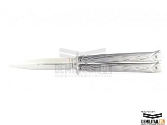 Nóż Balisong Silver New motylek