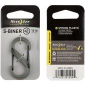 Nite Ize S-Biner 2 Plastic Black Gate FGreen karabinek