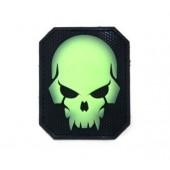 Naszywka Mil-Spec Monkey Pirateskull PVC Green Glow Patch świecąca
