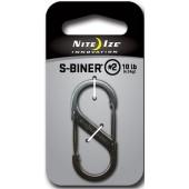 Nite Ize Stalowy karabińczyk S-Biner 2 srebrny