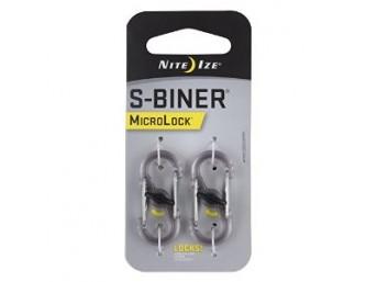 Nite Ize - S-Biner MicroLock Plastic - Smoke - 2Pack