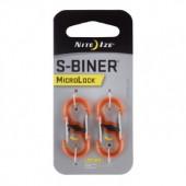 Nite Ize - S-Biner MicroLock Plastic -Pomarańczowy-2Pack-LSBPM-19T-2R3