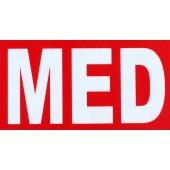 Naszywka MED Czerwony Gen III medyk