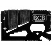 Karta survivalowa przeżycia przetrwania BCB Mini Work Tool Black