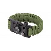 101 Inc. - Bransoletka surwiwalowa 9'' - Zielony kompas termometr krzesiwo