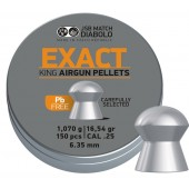 Śrut diabolo JSB Exact King Lead free 6,35 mm 150 szt.