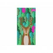 Ręcznik szybkoschnący Outrest z jeleniem różowy XL