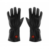 Ogrzewane rękawiczki skórzane L-XL