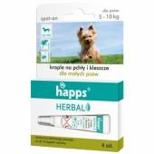 Krople Happs przeciw pchłom i kleszczom pies 5 - 10 kg