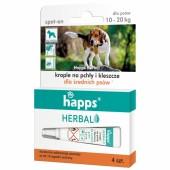 Krople Happs przeciw pchłom i kleszczom pies 10 - 20 kg
